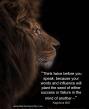 LionThinkTwiceB4USpeak