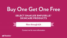 Special Offers ENFUSELLE SKINCARE  -NOW thru 8/9